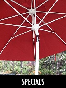 Stoney Creek Products & Sunbrella Umbrella Specials