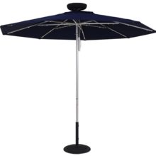 9 Ft. ILLUMISHADE Solar Powered LED Lighted Market Umbrella