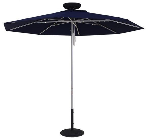 9 Ft. ILLUMISHADE Solar Powered LED Lighted Market Umbrella