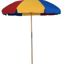 7.5 ft. American Made Wood Beach Fiberglass Rib Umbrella
