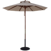 7.5 Ft. Wood Market Umbrella