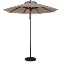 7.5 Ft. Wood Market Umbrella