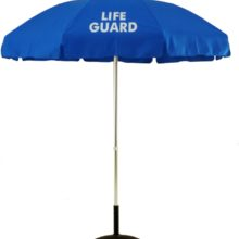 Sunbrella 6.5 Ft. Aluminum Pop-Up With Tilt Lifeguard Logo Umbrella
