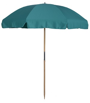 7.5 ft. Beach Umbrella with Wood Frame & Steel Ribs (Screw Connector)