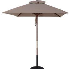 6.5 ft. Wood Market Square Umbrella