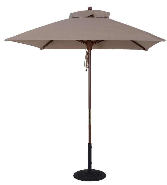 6 5 Ft Wood Market Square Umbrella Stoney Creek Custom