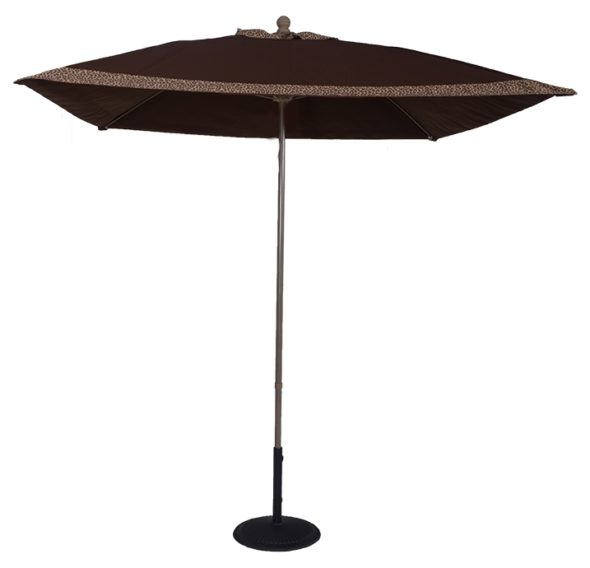 Custom 7.5 ft. Aluminum Market Square Auto-Tilt Umbrella