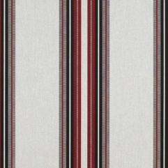 Sunbrella® Fabric 4798-0000 Burgundy/Black/White (Awning Stripe)