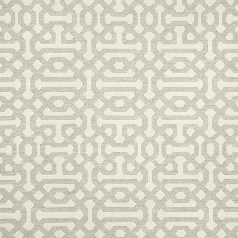 Sunbrella Fabric 45991 0002 Fretwork Pewter