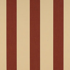 Sunbrella® Fabric 4985-0000 Havelock Brick (Awning Stripe)