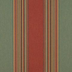 Sunbrella® Fabric 4969-0000 Henna/Fern Vintage (Awning Stripe)
