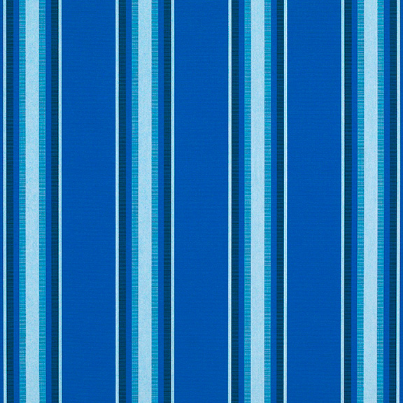 Sunbrella 174 Fabric 4755 0000 Pacific Blue Fancy Awning Stripe
