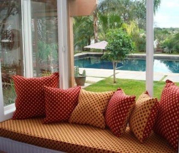 Sunbrella® 4 Inch Bay Window Cushion 50-62 Inch